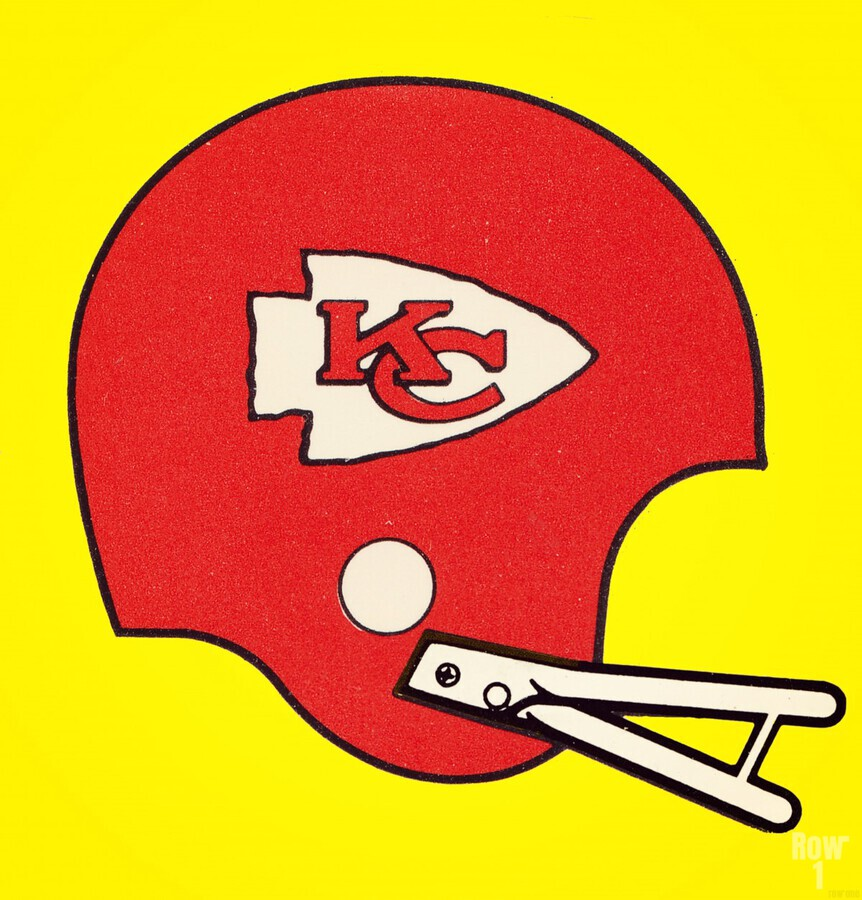 1982 Kansas City Chiefs Helmet Art  Print