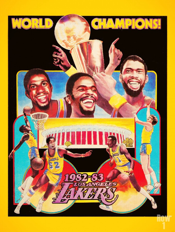 1982 LA Lakers Champion Poster  Print