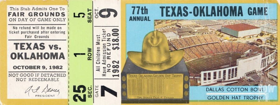 1982 Oklahoma vs. Texas  Print