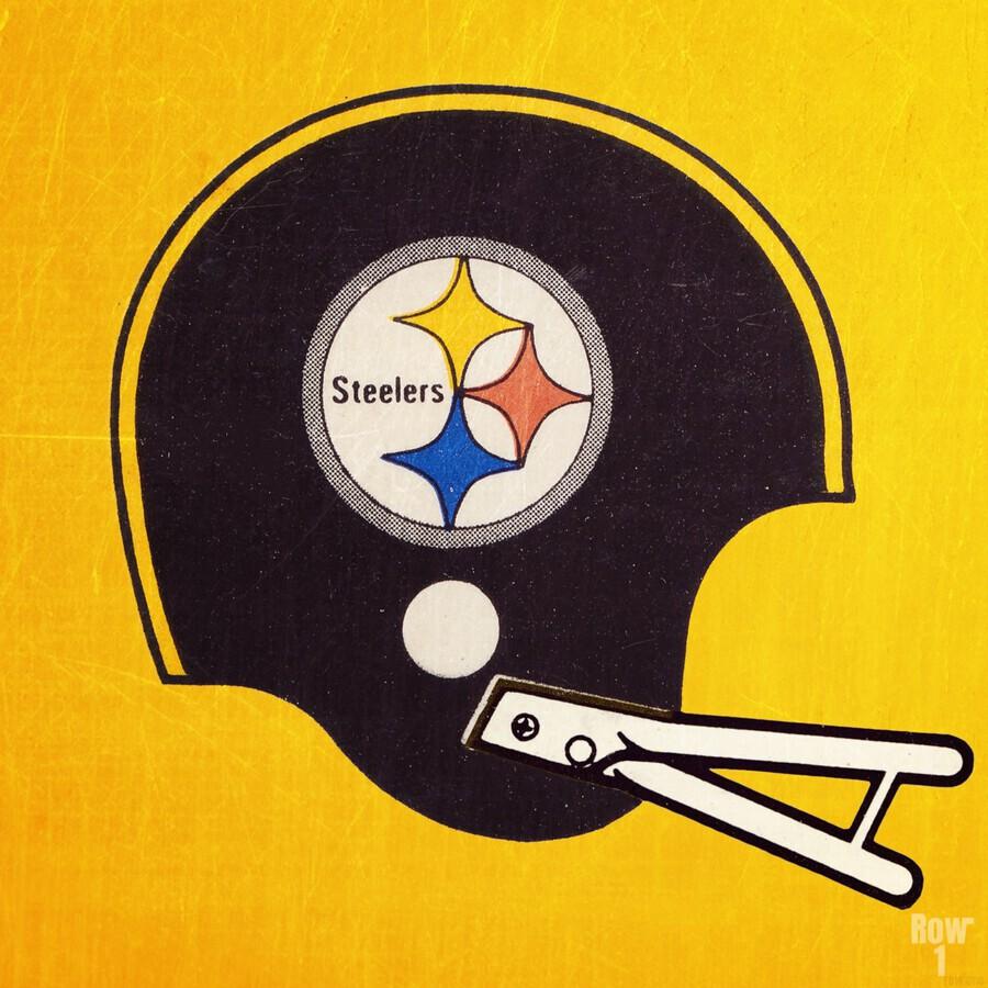Vintage Pittsburgh Steelers Football Helmet Art  Print