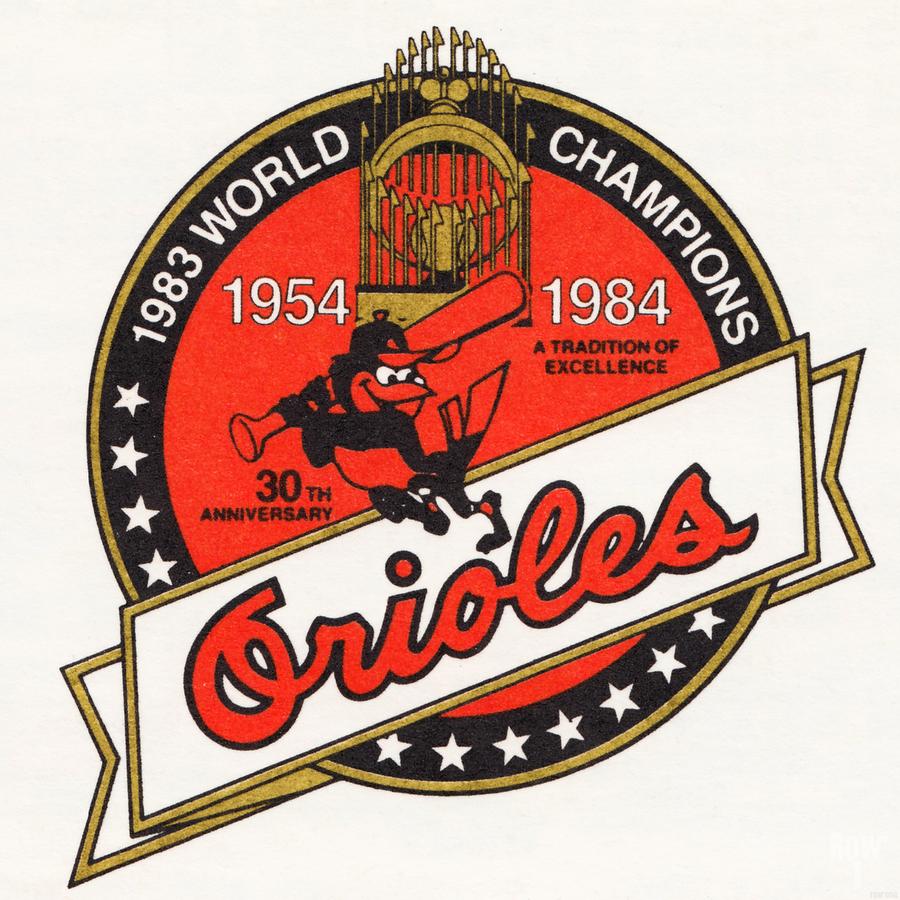 1983 Baltimore Orioles World Champions Art  Print