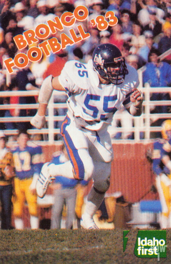 1983 Boise State Broncos Carl Keever Football Poster  Print