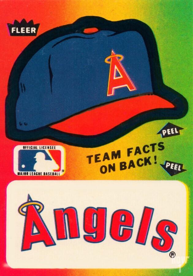 1983 fleer baseball sticker california angels poster  Print