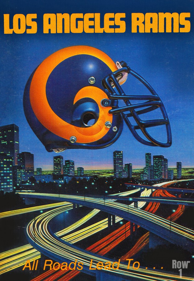 1983 Los Angeles Rams Football Poster  Print