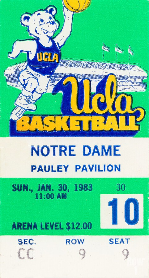 1983 notre dame ucla bruins college basketball  Print