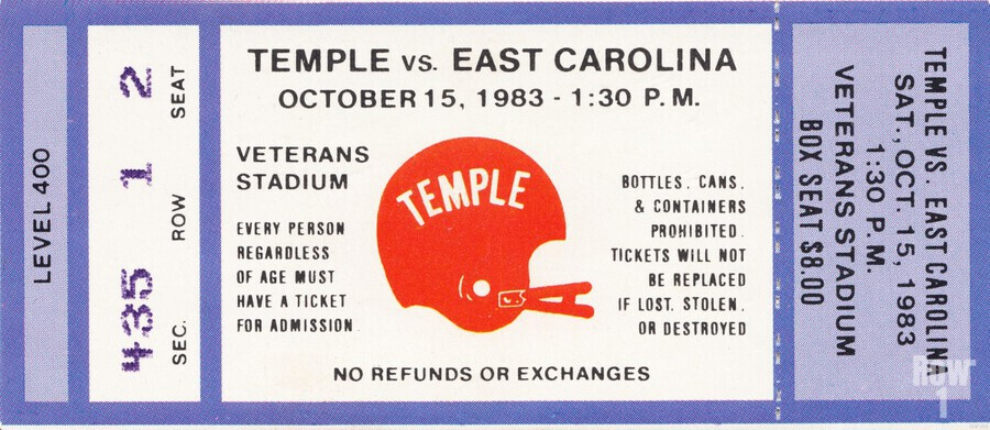 1983 Temple vs. East Carolina  Print