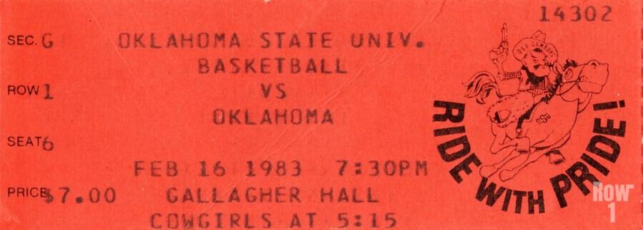 1983 Oklahoma vs. OSU Bedlam Basketball  Print