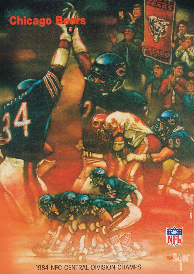 1984 chicago bears nfc central division champs art  Print