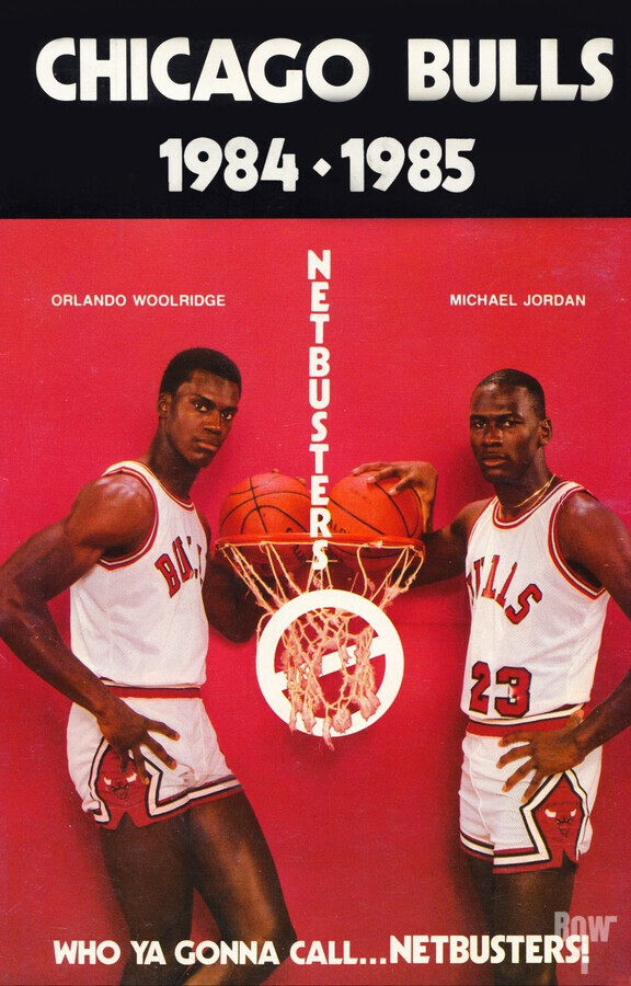 1984 chicago bulls michael jordan who ya gonna call netbusters poster  Print