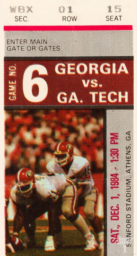 1984 Georgia Tech vs. Georgia  Print