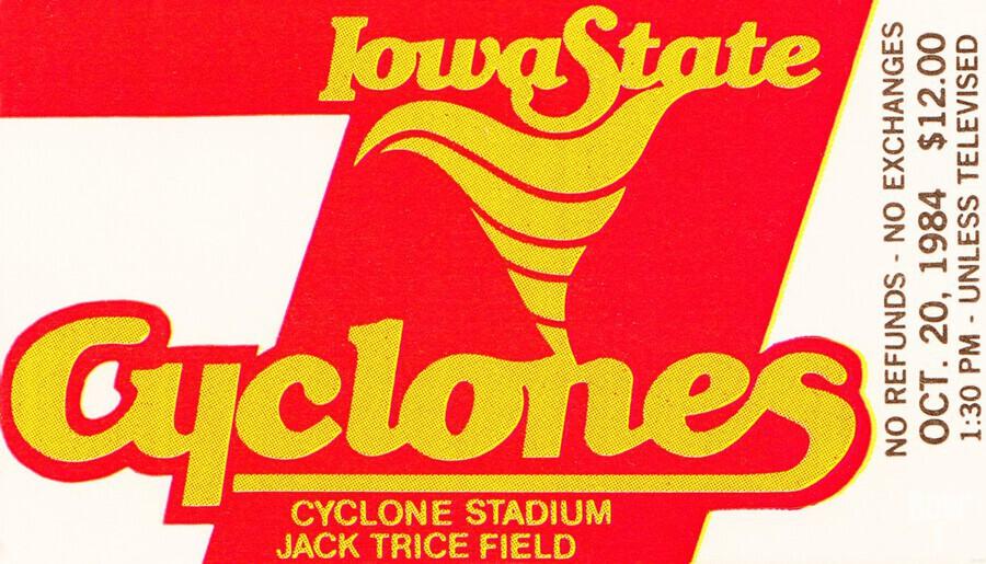 1984 Iowa State Ticket Stub Art  Print