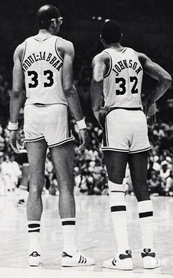 1984 Magic Johnson & Kareem Poster  Print
