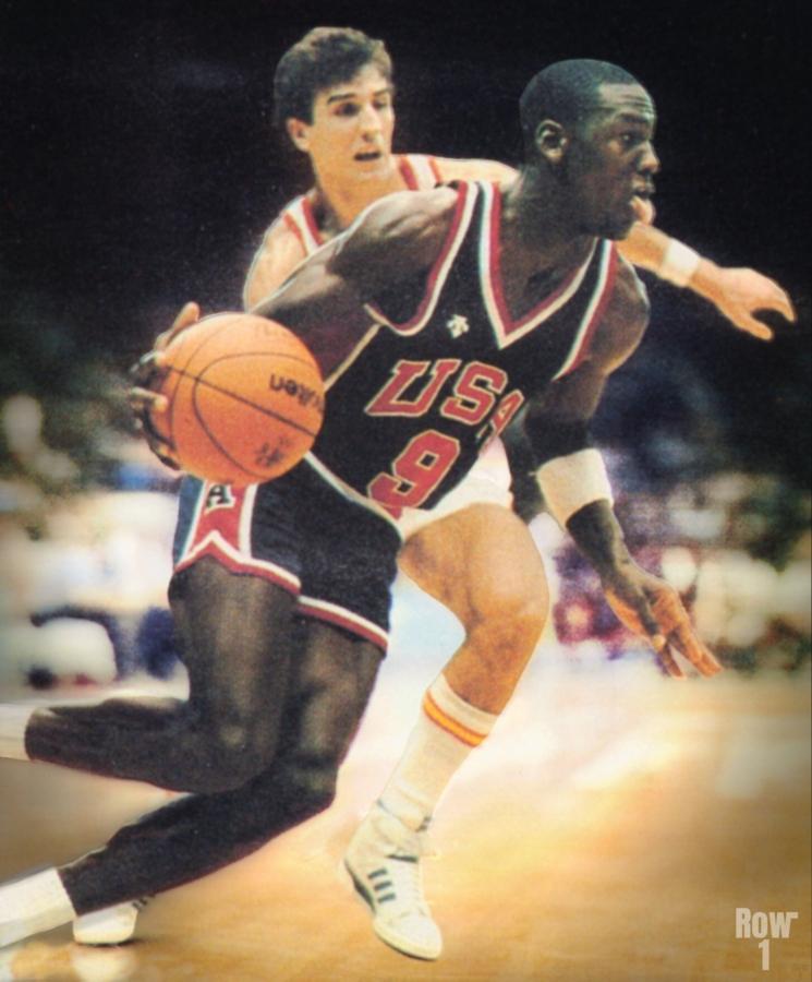 1984 Michael Jordan USA Basketball Art  Print