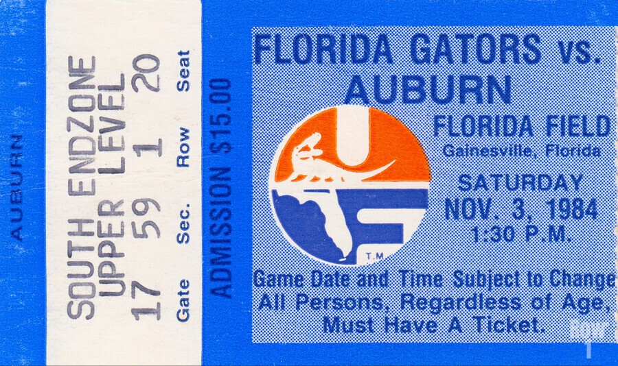 1984 Florida vs. Auburn  Print