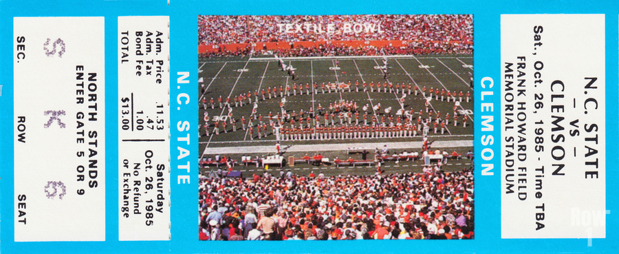 1985 Clemson Tigers vs. NC State Wolfpack  Print