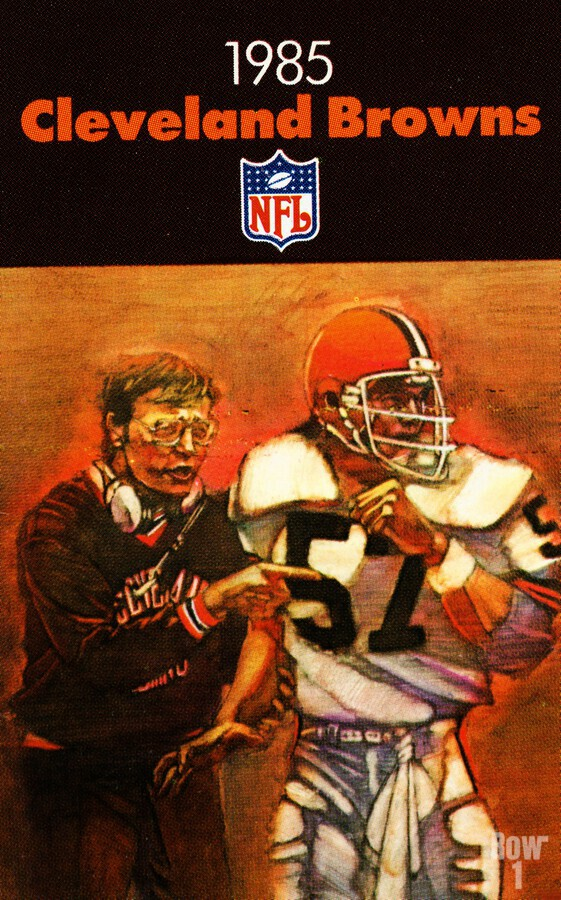 1985 Cleveland Browns Football Poster  Print