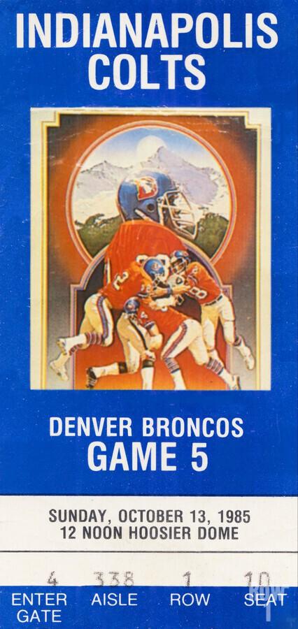 1985 Denver Broncos vs. Indianapolis Colts | Row 1  Print