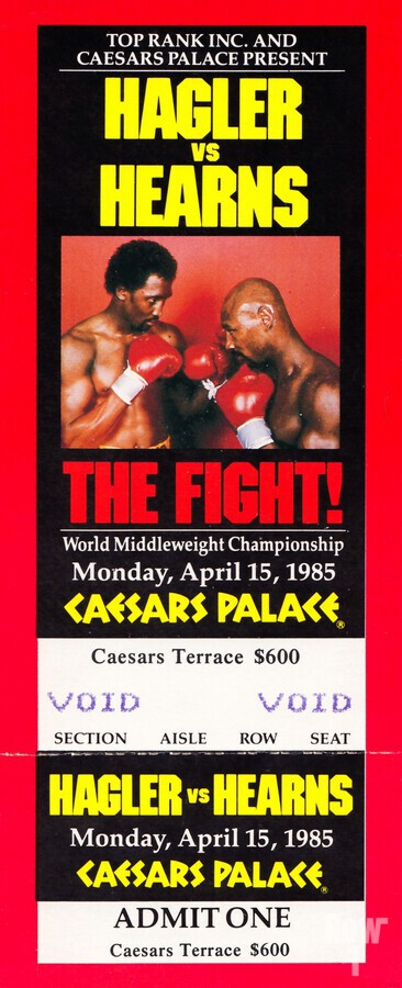 1985 hagler hearns boxing match caesars palace las vegas the fight  Print