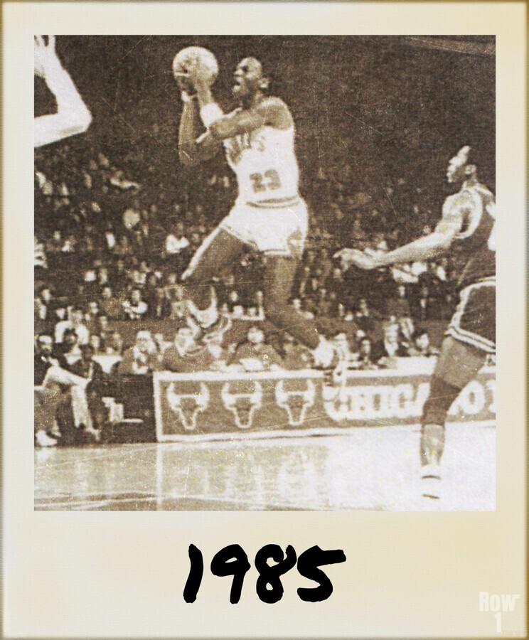 1985 Michael Jordan Polaroid Style Art  Print