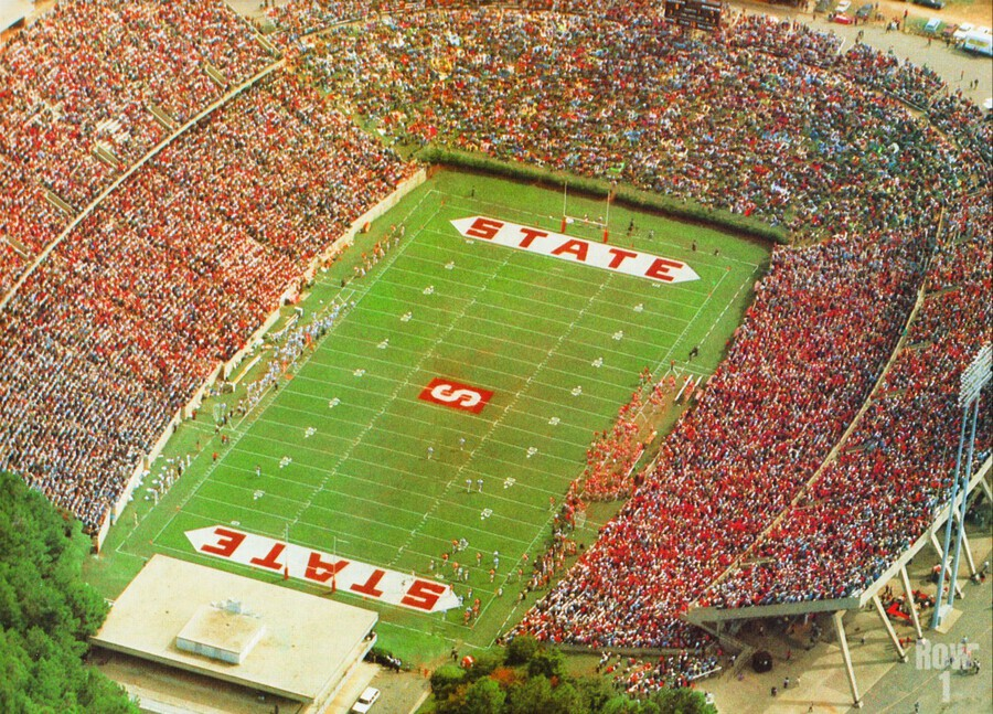 1985 nc state wolfpack carter finley stadium raleigh north carolina college football aerial photo  Print