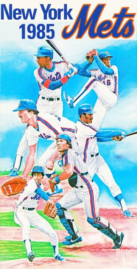 1985 new york mets baseball poster  Print