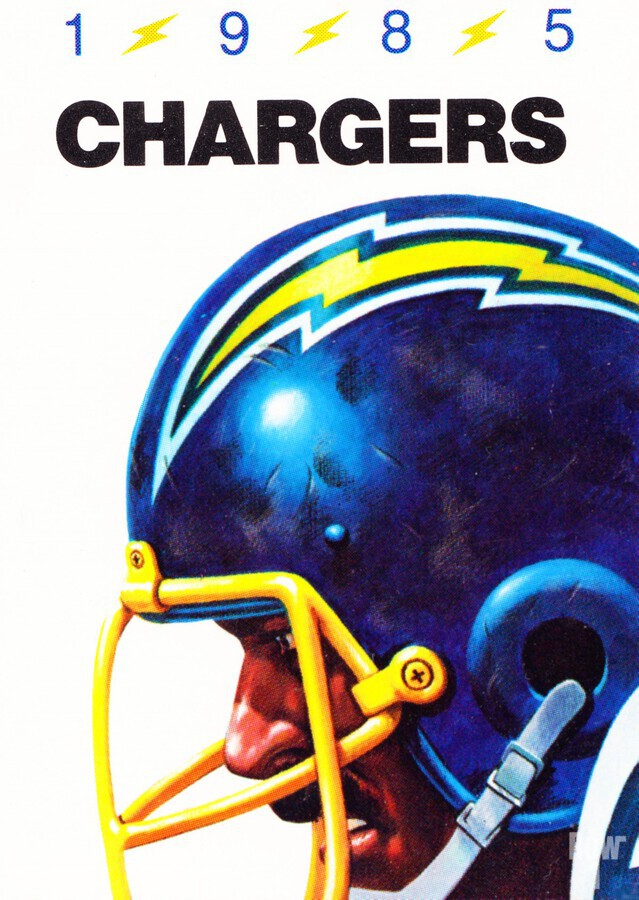1985 San Diego Chargers Football Poster  Print