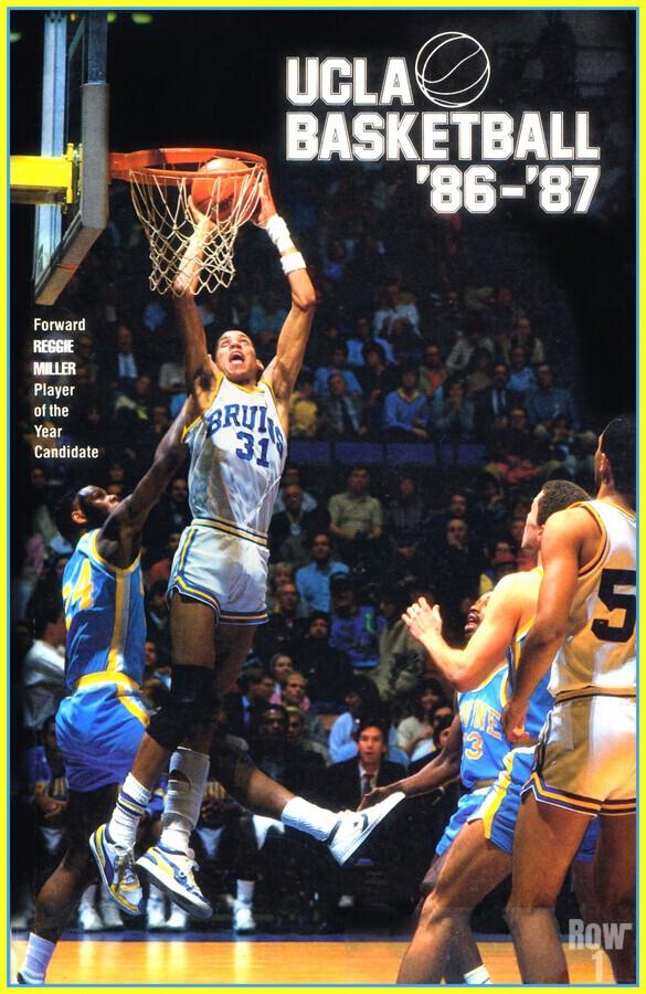 1986 ucla basketball reggie miller poster  Print