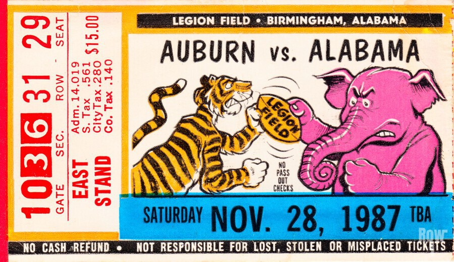1987 Alabama vs. Auburn   Print