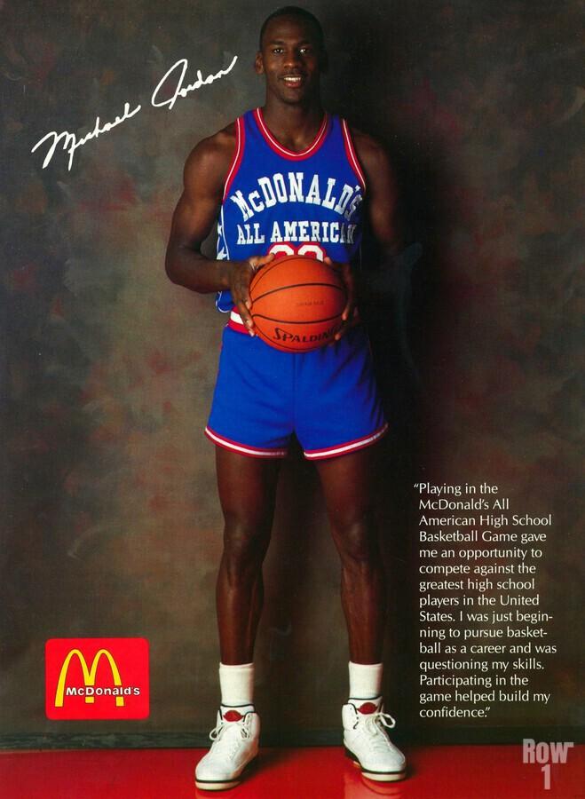 1987 McDonalds Michael Jordan Ad Poster  Print