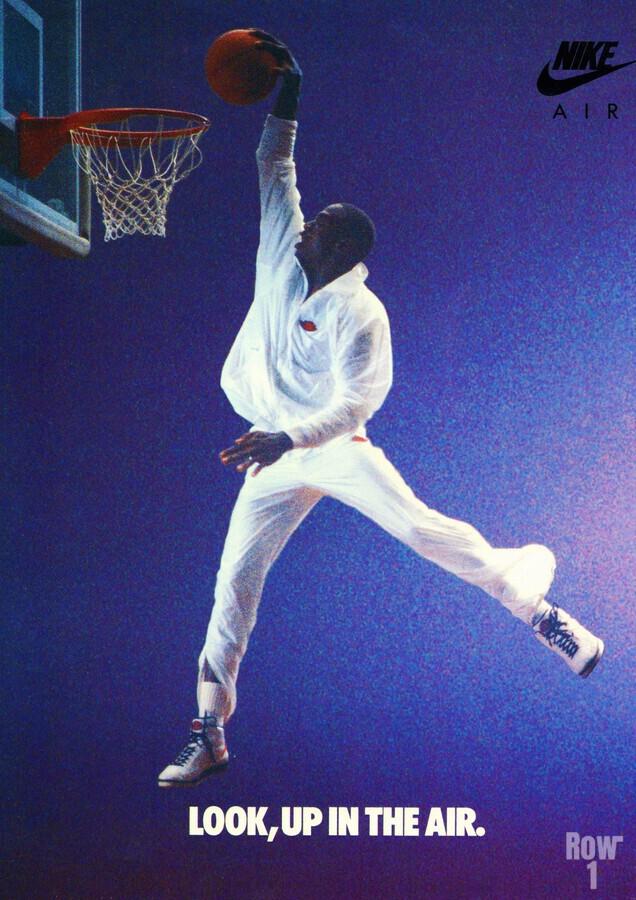 1987 Michael Jordan Nike Ad  Print