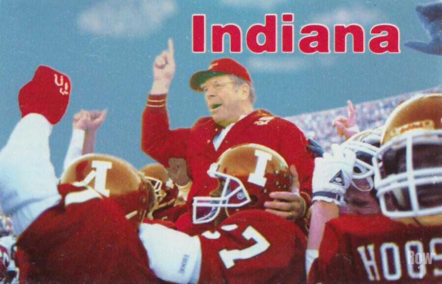 1987 indiana hoosiers iu football wall art  Print