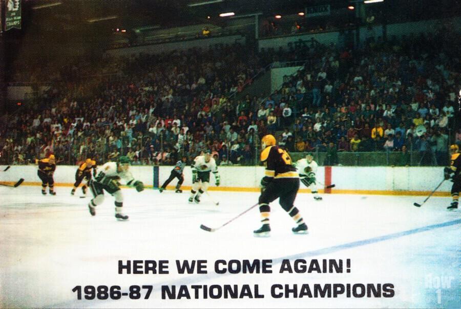 1987 University of North Dakota Hockey  Print