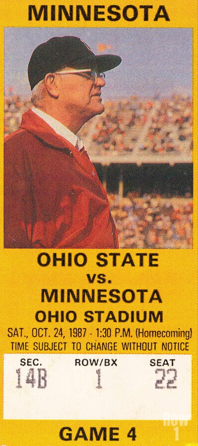 1987 Ohio State vs. Minnesota  Print