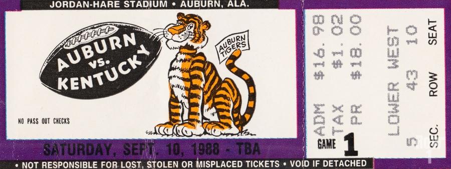 1988 Auburn Tigers vs. Kentucky Wildcats  Print
