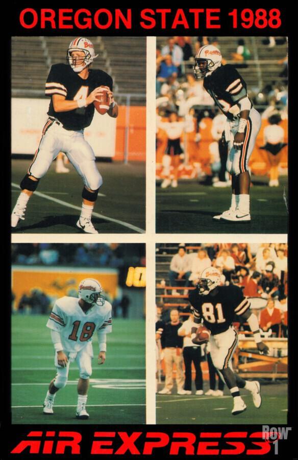 1988 oregon state osu beavers air express offense  Print