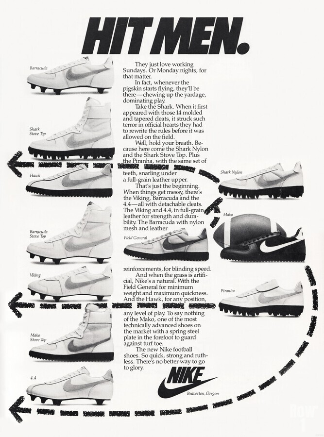 Hit Men Nike Shoes Ad Poster Reproduction 1982  Print