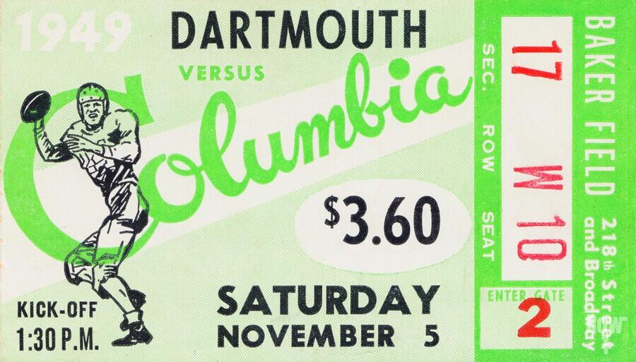 1949 Dartmouth vs. Columbia  Print