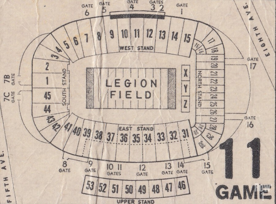 Legion Field Stadium Map Art_Vintage College Football Map Art  Print