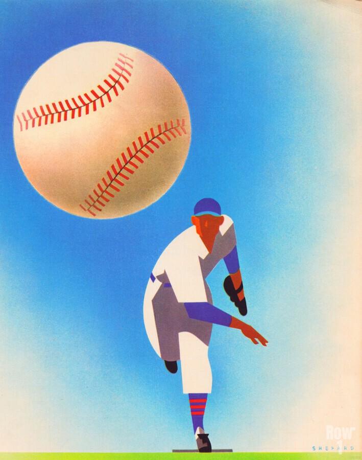Baseball Pitcher Art  Print