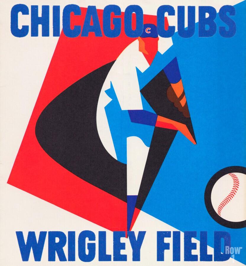 Retro_Remix_Sports_Program_Scorecard_Posters_Row_One_Chicago_Cubs  Print
