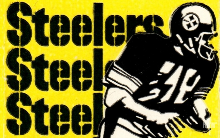 Row One Brand Vintage Pittsburgh Steelers Football Art Print Art Reproduction (1974)  Print