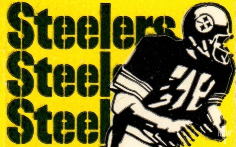 Vintage Pittsburgh Steelers Football Art Reproduction  Print