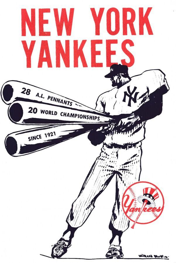 Artist Willard Mullin New York Yankees Art Poster  Print