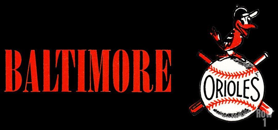 baltimore orioles retro remix row one  Print