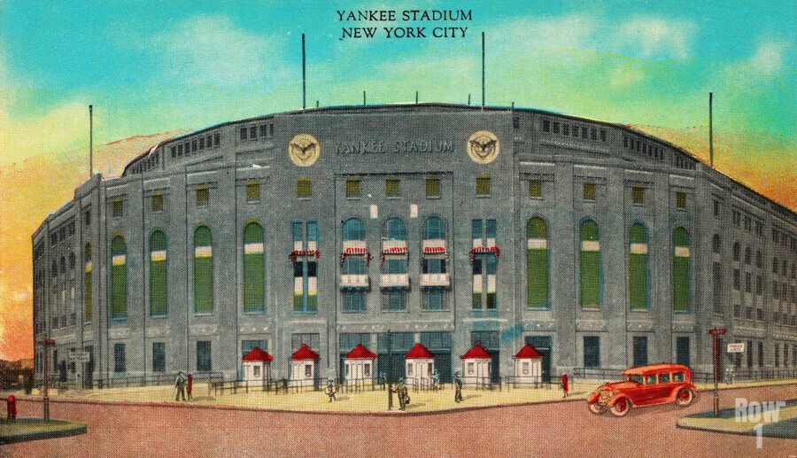 1935 Vintage New York Yankees Stadium Art  Print