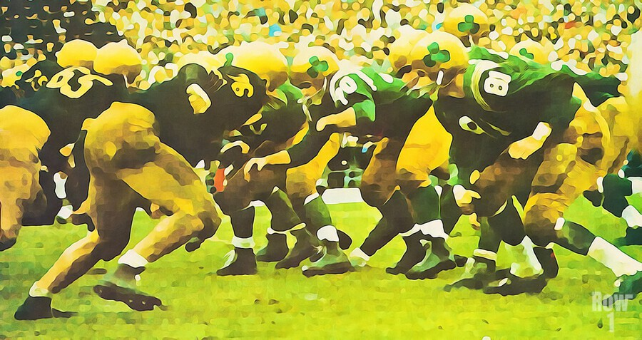 best notre dame football art  Print