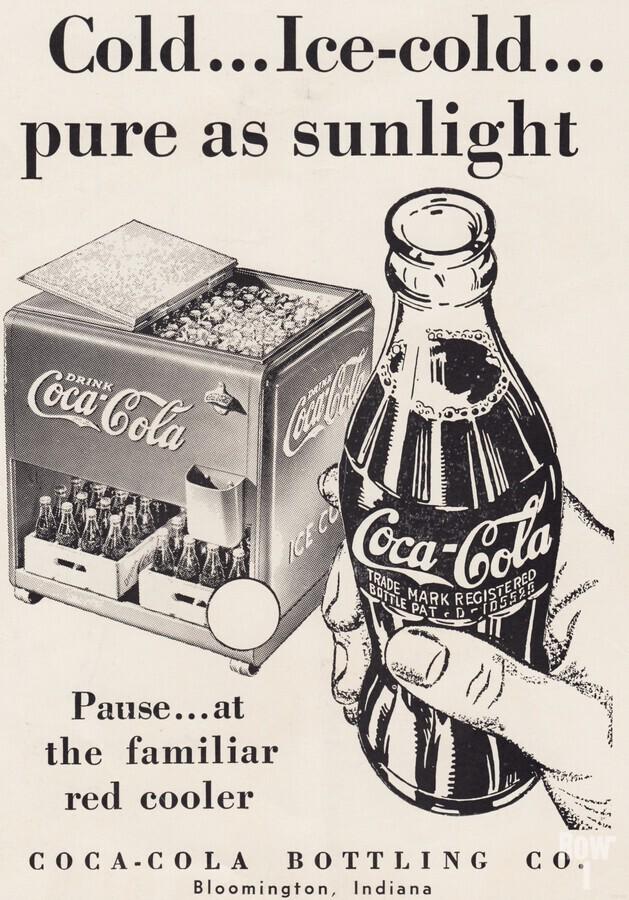 Vintage Coke Ad Bloomington Indiana  Print