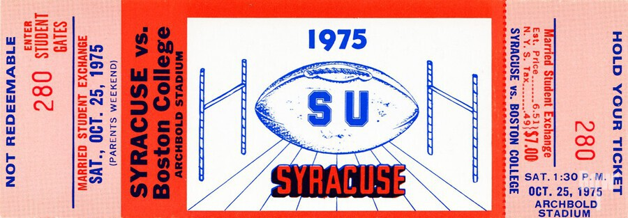 1975 Syracuse vs. Boston College  Print