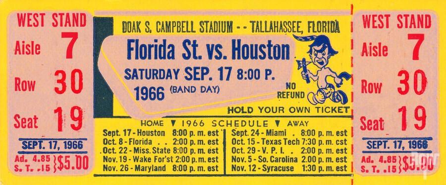 florida state seminoles ticket stub art  Print