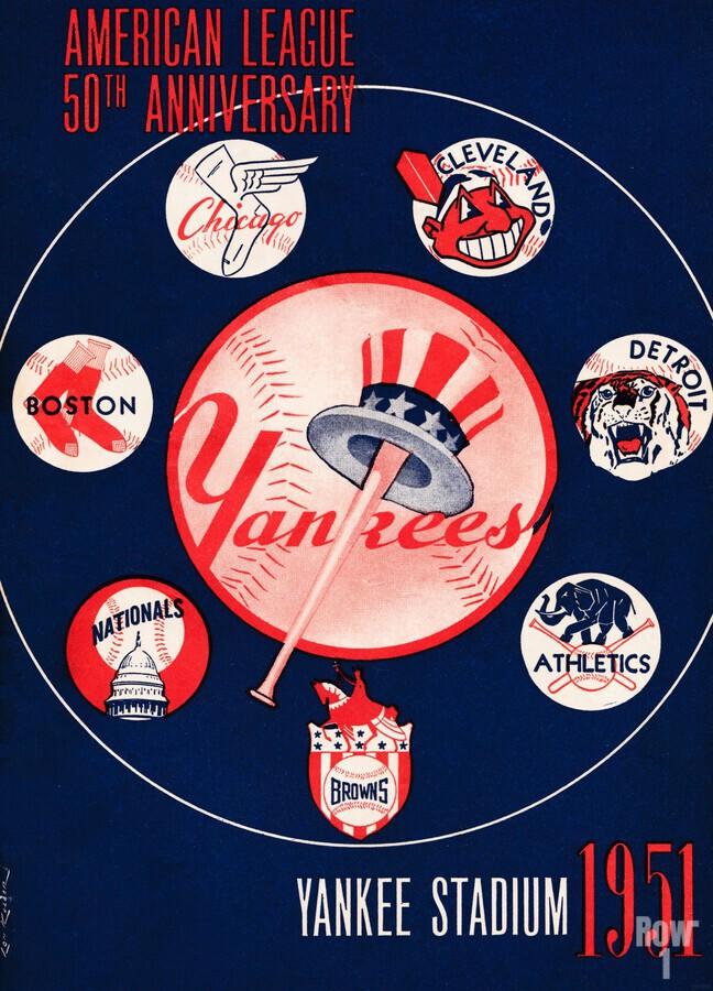 1951 new york yankees logo lon keller art  Print